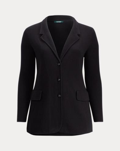 3-Button Cotton Sweater Jacket
