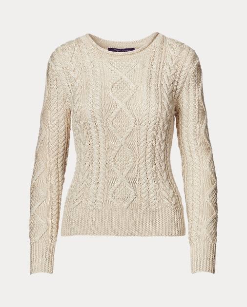 840786045fefbf Collection Apparel Hand-Knit Aran Sweater 2