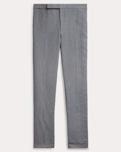 Slub Silk-Linen Suit Trouser