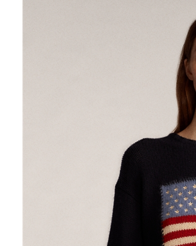 Flag Cashmere Crewneck Sweater