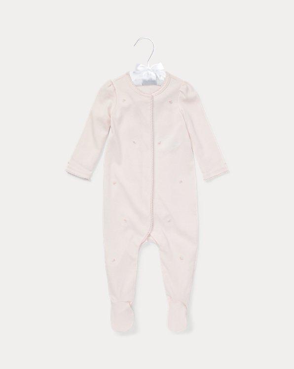 Combinaison bébé brodée en coton