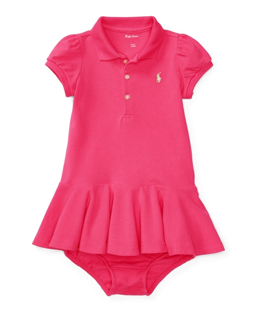 f43638707126 Baby Girl Cotton Polo Dress   Bloomer 1