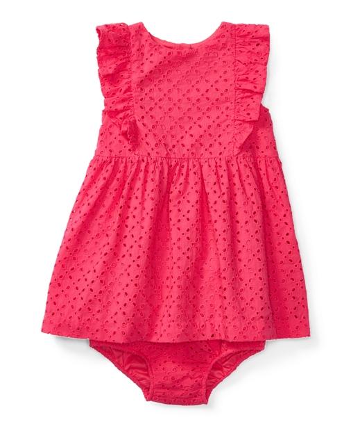 Dressamp; Eyelet BloomerDresses Girl0 Months Cotton 24 Baby iwPXZulOkT