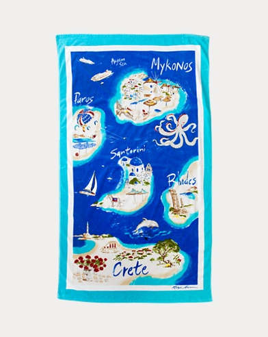 Greek Islands Beach Towel
