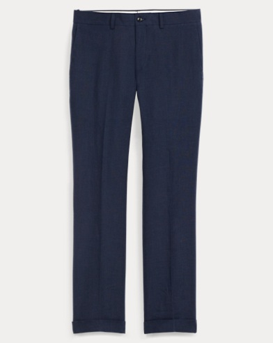 Pantaloni Straight-Fit in lino
