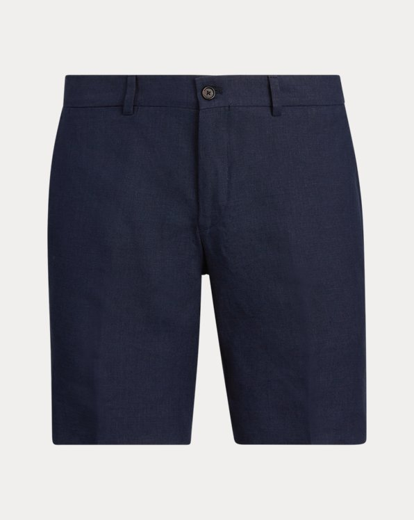 Straight Fit Linen Short