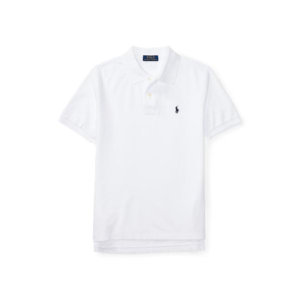폴로 랄프로렌 보이즈 폴로셔츠 Polo Ralph Lauren Cotton Mesh Polo Shirt,White