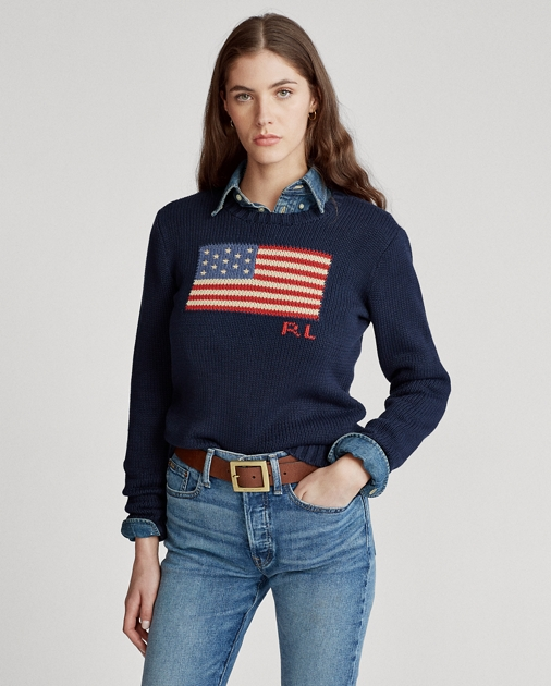 Polo Ralph Lauren Flag Cotton Crewneck Jumper 1