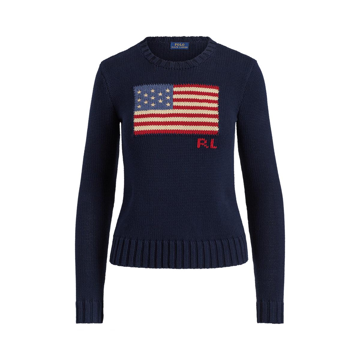 new product f2106 2f8f2 Flag Cotton Crewneck Sweater | Scoop, Crew & Boatnecks ...