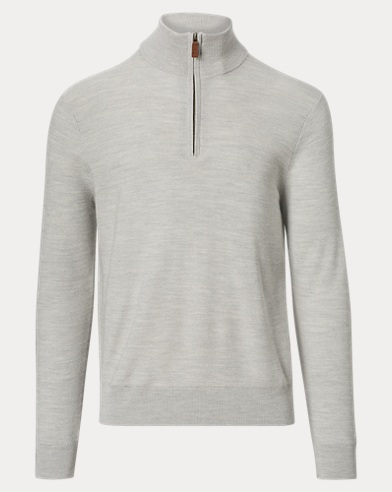 Merino-Blend Half-Zip Sweater