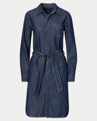 Denim-Hemdkleid