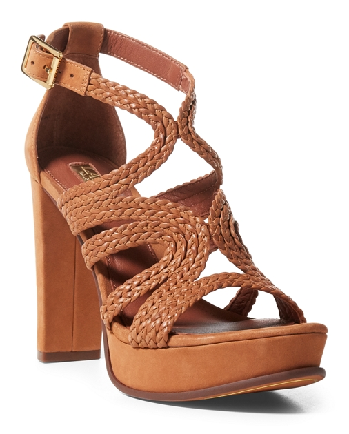 1024b71c7 Lauren Aleena Braided Nubuck Sandal 1
