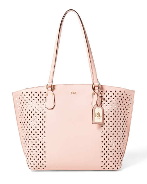 41af51726a0c Diamond-Perforated Tanner Tote