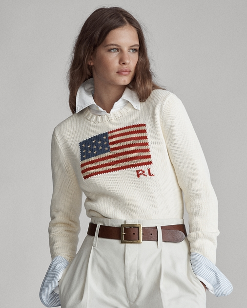 Polo Ralph Lauren Flag Cotton Crewneck Sweater 1