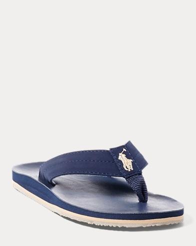 Faux-Leather Flip-Flop Sandal