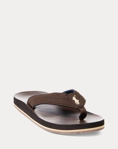Leo Faux-Leather Flip-Flop