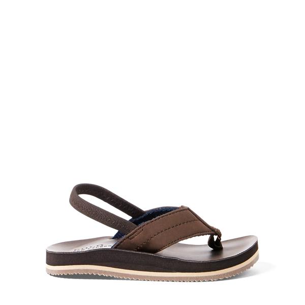 Polo Ralph Lauren Leo Faux-Leather Flip-Flop