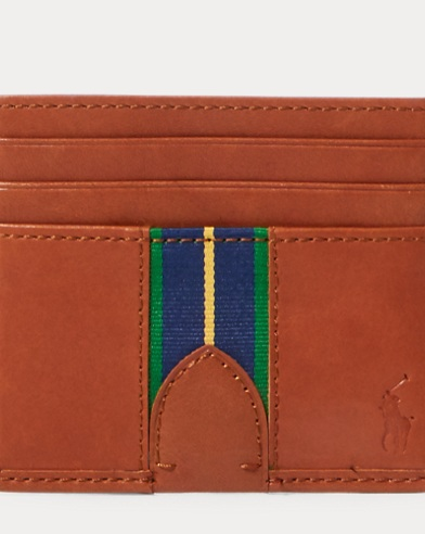 Grosgrain-Stripe Card Case