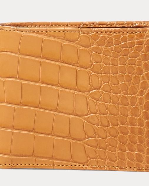 7d8635a846 Ralph Lauren Burnished Alligator Wallet 1