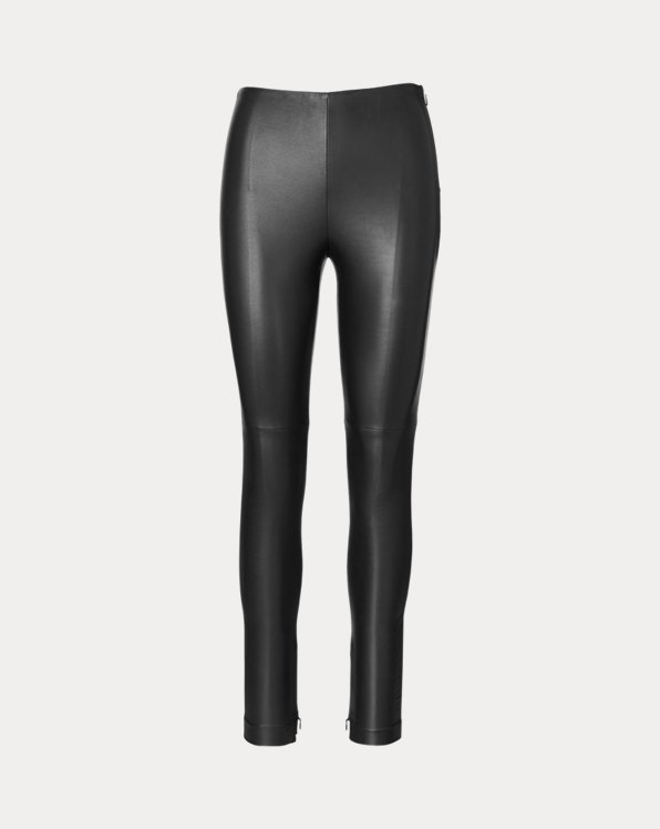 Pantalon Eleanora en cuir stretch