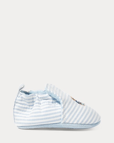 Percie Striped Canvas Slipper