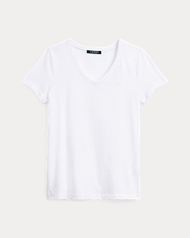 Maglietta da notte a V in cotone