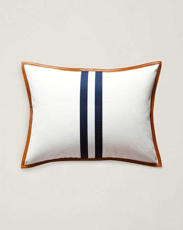 Lafayette Leather Throw Pillow