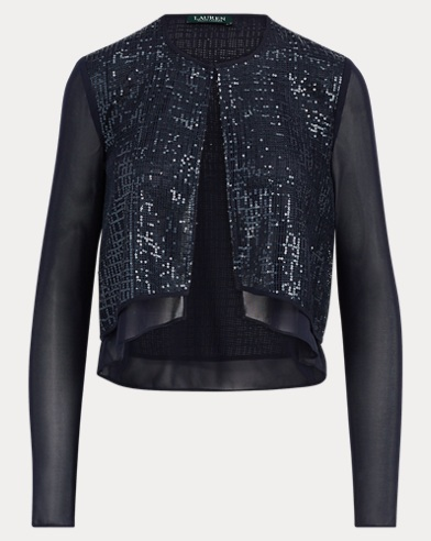 Sheer Sequined Cardigan
