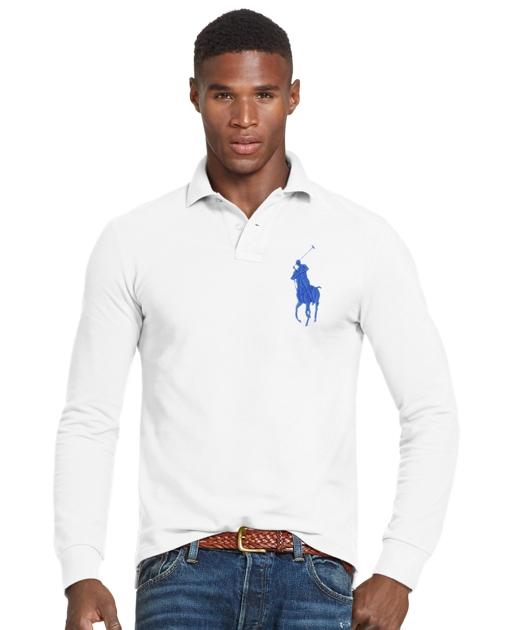 d0b9fa09 Polo Ralph Lauren Slim Fit Mesh Long-Sleeve Polo 1