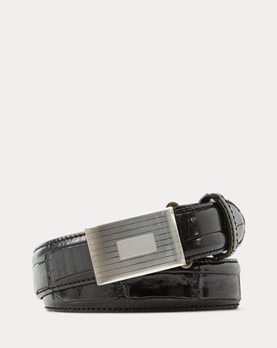 Alligator Engine-Buckle Belt