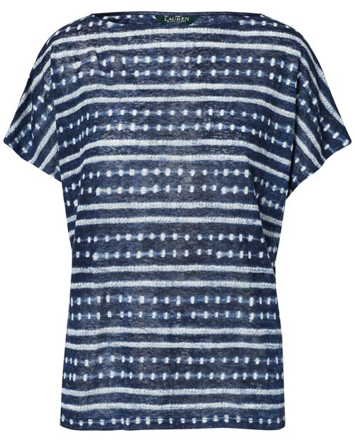 Tie Dye Linen Knit Top Shirts Tops Ralph Lauren
