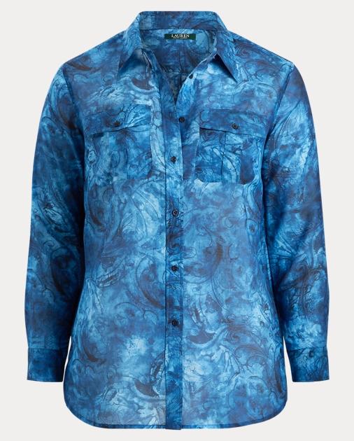 153ecb29 Tie-Dye Button-Down Shirt - Shirts Woman (sizes 14-22) | Ralph Lauren