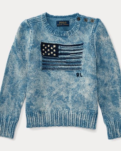 Flag Combed Cotton Sweater Sweaters Girls 2 6x Ralph Lauren