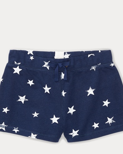 Star-Print French Terry Short