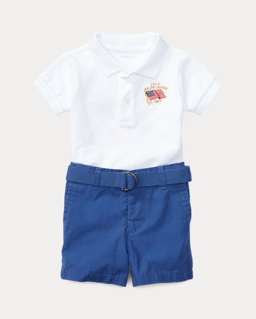 97d31b69 Polo Shirt, Belt & Short Set   Outfits & Gift Sets Baby   Ralph Lauren