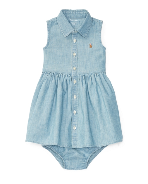 63e38feab8 Chambray Shirtdress & Bloomer | Dresses BABY GIRL (0-24 months ...