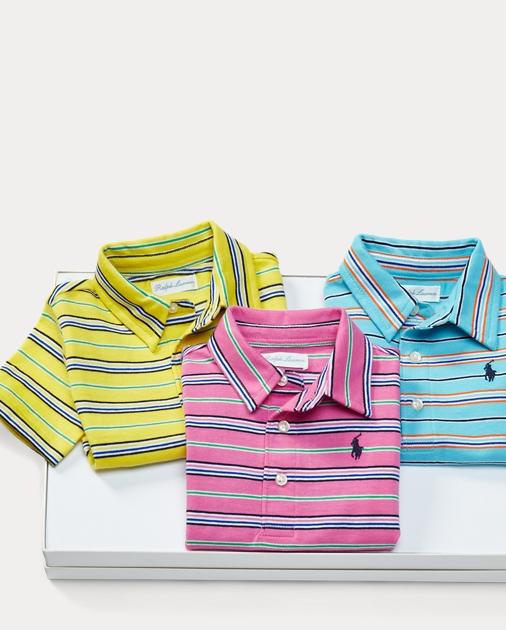 93a6181be4 Cotton Polo 3-Piece Gift Set   Polo Shirts & Bodysuits Baby   Ralph ...