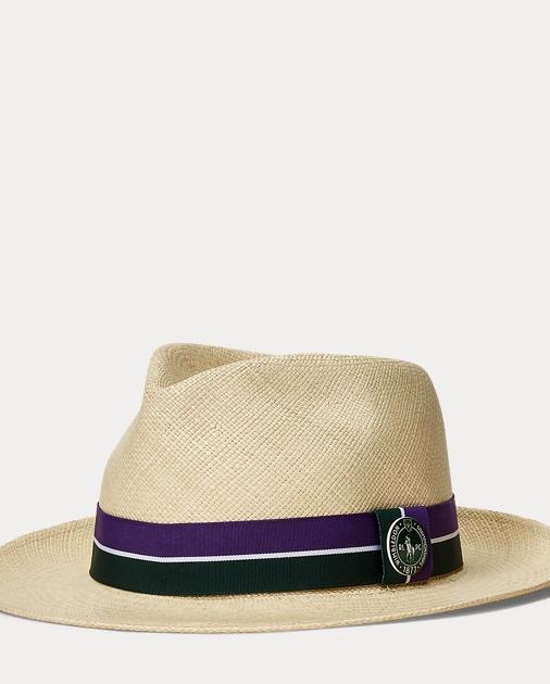 b640173e1910ed produt-image-0.0. produt-image-1.0. MEN ACCESSORIES Caps & Hats Wimbledon Straw  Panama Hat. Polo Ralph Lauren