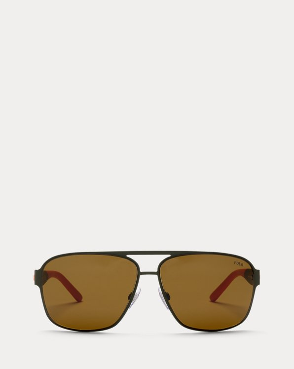 Two-Tone Metal Sunglasses