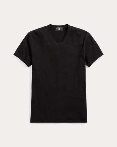 Indigo Cotton Jersey T-Shirt