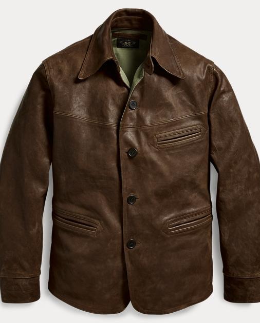 d01a6e3365 RRL Leather Car Coat 1