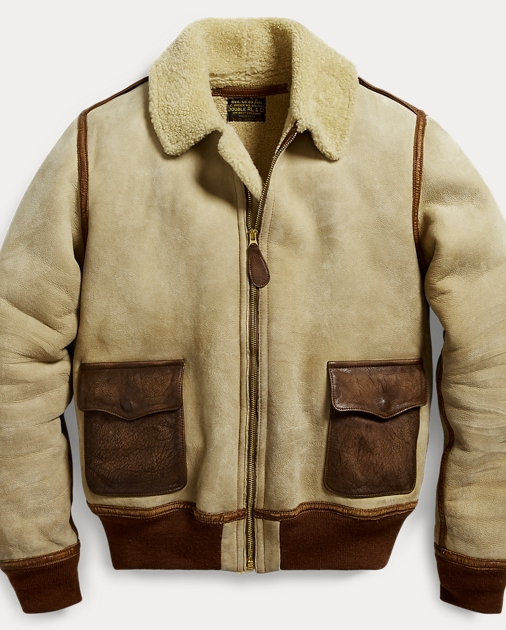 9aad2d273 Leather-Trim Shearling Jacket