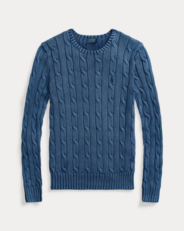 Slim Fit Cable-Knit Sweater