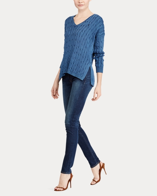 Polo Ralph Lauren Cable-Knit Side-Slit Sweater 3