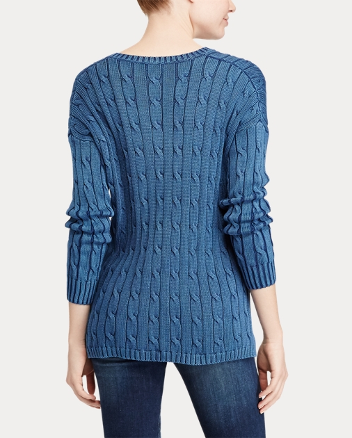 Polo Ralph Lauren Cable-Knit Side-Slit Sweater 5
