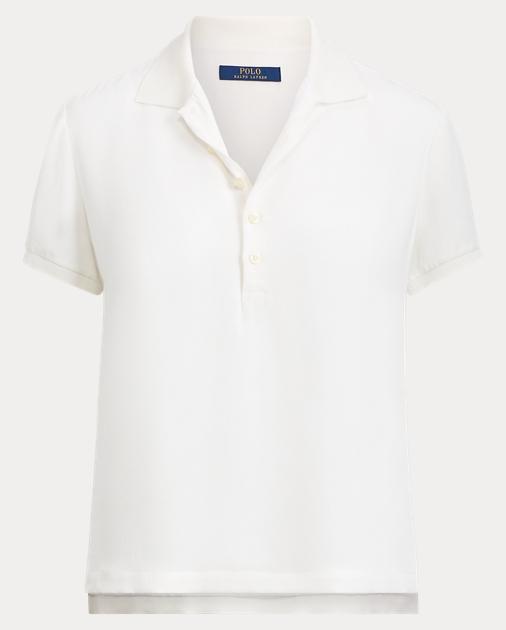 8b964a83f9acc2 Silk Polo Shirt | Polo Shirts Women | Ralph Lauren