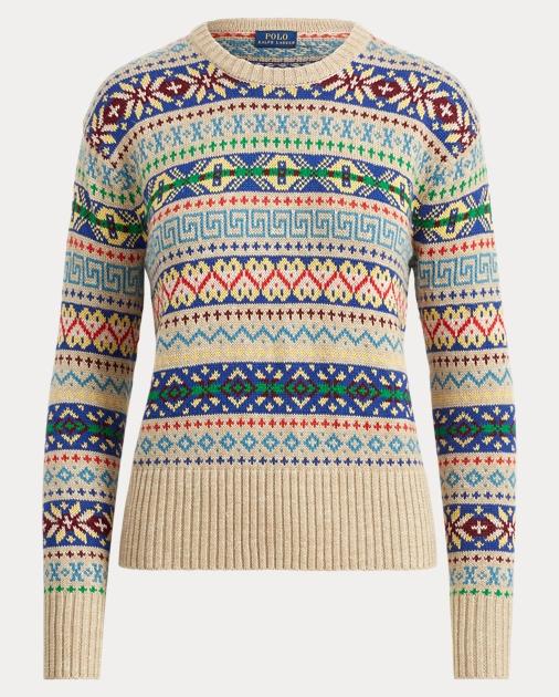 35f986006 Polo Ralph Lauren Fair Isle Crewneck Sweater 1