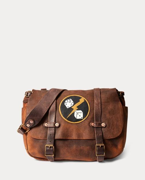 f15d2fe8e9 RRL Distressed Leather Saddle Bag 1