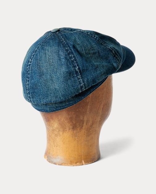 RRL Denim Newsboy Cap 2 06f8cb1065e