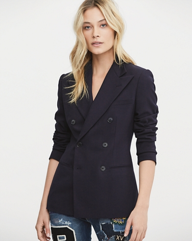 Double-Breasted Wool Blazer